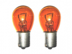 12v 21w Single Pin Amber Indicator Bulbs [Amber] Priced Per Pair